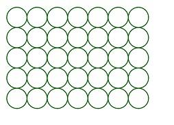 matriz de circulos